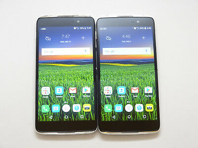 Lot of 2 Alcatel OneTouch Idol 4 6055U Cricket Smartphones AS-IS GSM !