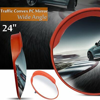 "24"" Outdoor Road Traffic Convex PC Mirror Wide Angle Driveway Safety &Security B"