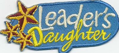 GIRL BOY CUB LEADER'S DAUGHTER Fun Patches Crests Badges SCOUT GUIDES Stars