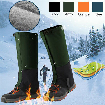 Pair Of Adult Outdoor Hiking Hunting Snow Snake Waterproof Boots Legging Gaiters