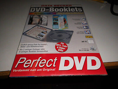 Data Becker DVD-Booklets, Fotoqualität, spezialbeschichtet