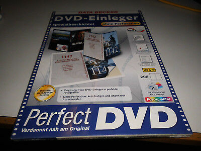 Data Becker DVD-Einleger spezialbeschichtet ohne Perforation