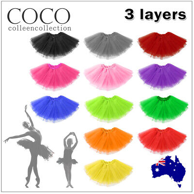 Adults/Kids Girls Tutu Skirt Princess Dressup Costume Ballet Bubble Dancewear OZ