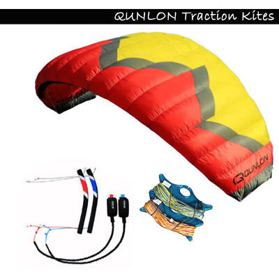 5m² Quad Line Traction Kite with Tools Trainer Kite for Paragliding Kitesurfing