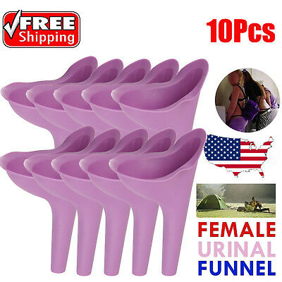 10pcs Outdoor Travel Female Urine Lady Urinal Funnel Urination Portable Toilets
