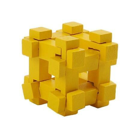 Mini 3D Wooden Puzzle - Yellow