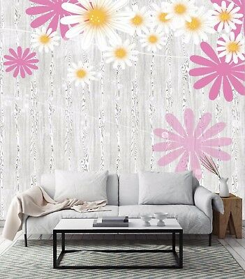 3D Daisy And Texture 7 Wall Paper Murals Wall Print Wall Wallpaper Mural AU Kyra