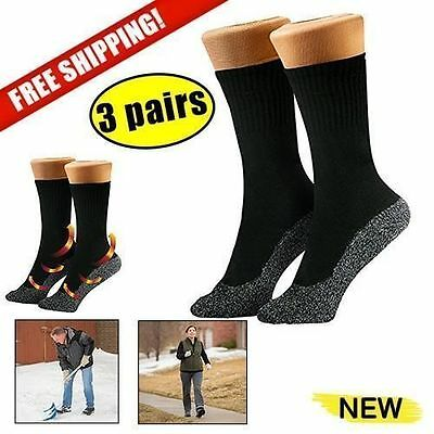 35 Below Socks 3 pairs Keep Your Feet Warm and Dry Size Large Black unisex