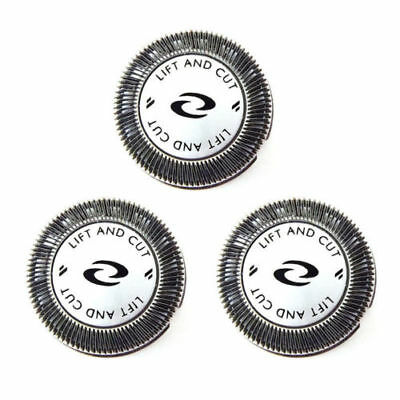 3x Shaver Heads Blade + DOUBLE Cutters for Philips Norelco HQ56 HQ55 HQ4+HQ3 1