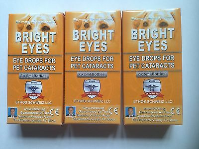 Eye Drops Bright Eyes for Cataracts Dogs Ethos NAC Bright Eyes 3 Boxes 30 ml