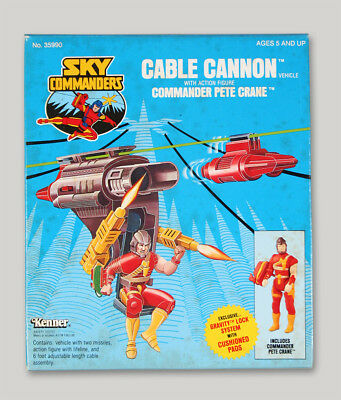 """casefresh KENNER SKY COMMANDERS MISB """"Cable Cannon"""" not M.A.S.K"""