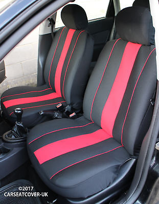 VAUXHALL BRAVA PICK-UP - Pair of Front SPEEDSTER Red/Black Car Seat Covers
