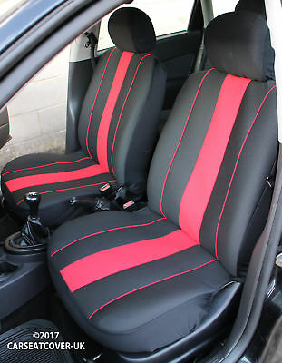LAND ROVER RANGE ROVER SPORT SVR Pair of SPEEDSTER Red/Black Car Seat Covers