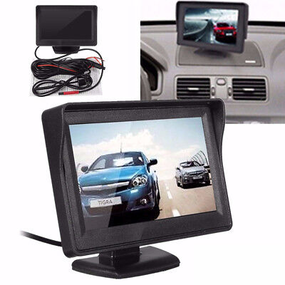 "Car Rear View System Backup Reverse Camera Night Vision w/ 4.3"" TFT LCD Monitor"