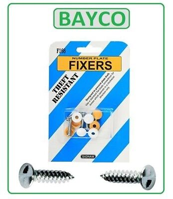 NUMBER PLATE SECURITY SCREWS FIXING KIT. ANTI THEFT/TAMPER PROOF CAR VAN HGV 4x4