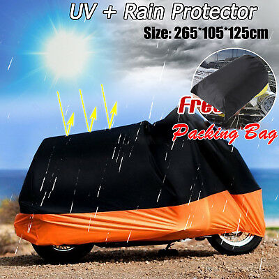 NEW Motorcycle Cover Motor bike Scooter Waterproof Sun UV Dust Protector Rain BP