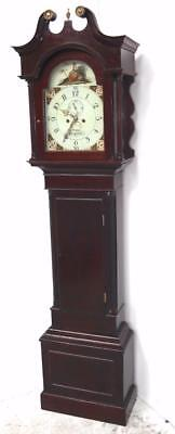 Antique English Longcase Clock Solid Mahogany 8 Day Grandfather Clock Circa 1790
