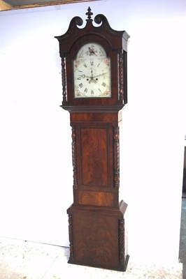 Fine Antique English Longcase Clock Solid Mahogany 8 Day Grandfather Clock C1800