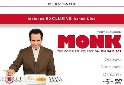 Monk Series 1-8 Complete Dvd Box Set New And Sealed  2 3 4 5 6 7 Seasons