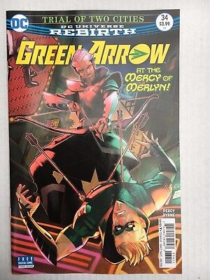 DC Comics: Rebirth Green Arrow #34 (2018) - BN - Bagged and Boarded