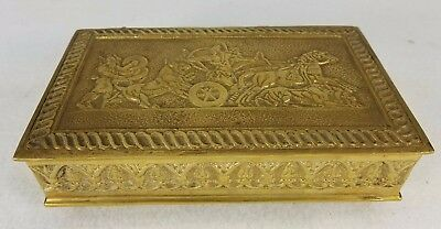 Large Antique French Bronze Box Neo-Classical Roman Decoration Max Le Verrier