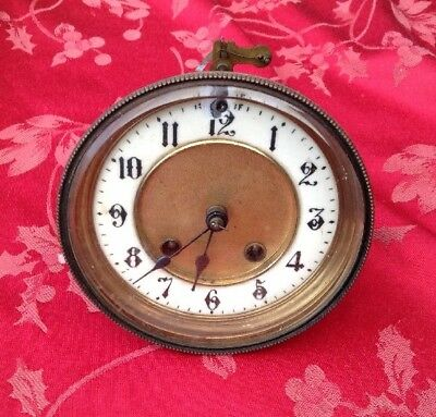 French Style HAC Clock Movement Glass Bezel Etc Round Plates Spares Repair