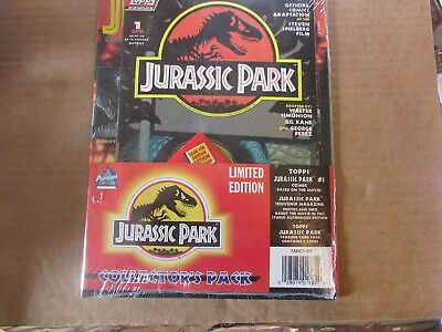 1993 Jurassic Park Collector's Pack(Comic Book, Pack of Cards, Authorized Magaz)