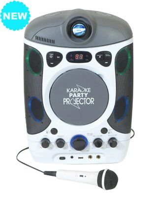 Mr Entertainer KAR124 Bluetooth CDG Karaoke Machine with Projector & Songs