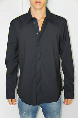 Shirt Striped Black M+F Girbaud Tieland Expressway T.M New/Tags Val 230€