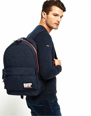 Superdry Marl Lineman Montana in Dark Navy Marl