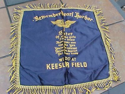 Scarce Wwii Usaaf Keesler Field Remember Pearl Harbor Sister Pillow Cover