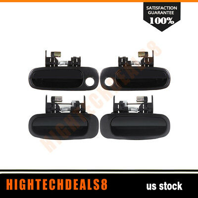 For 98-02 Corolla Door Handles 4Pcs Black Exterior Right/Left Side Front&Rear
