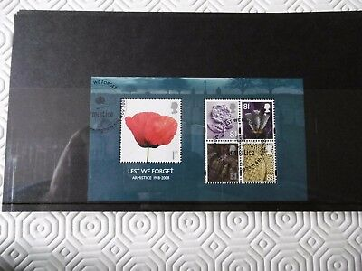 GB 2008 Lest We Forget - Armistice - Miniature Sheet - Fine used