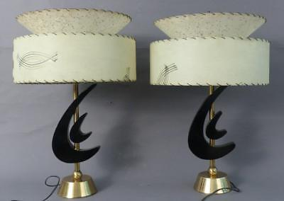 Pair Of Mid Century Modern, Very Cool Table Lamps, Great Condition