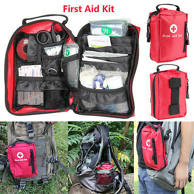 Waterproof Outdoor First Aid Kit Survival Medical Bag Pouch Treatment Case New