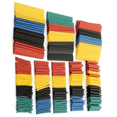 Heat Shrink Tubing Tube Cable Assortment Sleeving Wire Wrap Tubes Kit 328 pcs