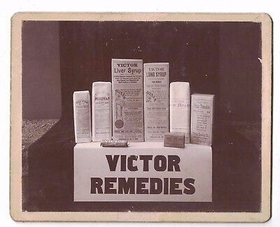Victor Remedies Quack Medicine Products Cabinet Photo Liver & Lung Syrup, more!