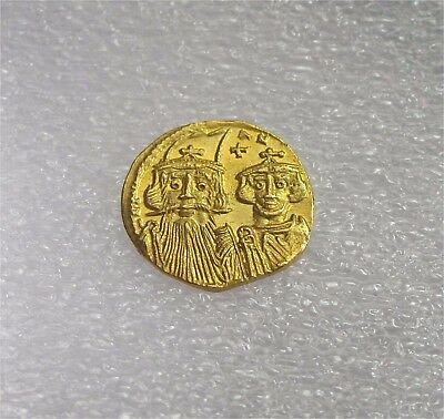 BYZANTINE GOLD SOLIDUS Coin CONSTANS II CONSTANTINE IV 641-668 AD Mint State