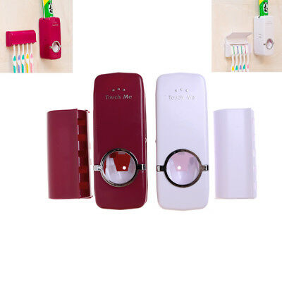 Bathroom Accessories Automatic Toothpaste Dispenser pump and Brush Holder Fad