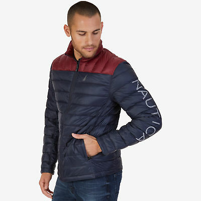 Nautica Mens Reversible Down Jacket