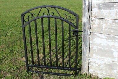 Antique Style Delaney Wrought Iron Handmade Gate - Can Do Custom