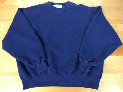 Vintage LL BEAN Blue Sweatshirt Russell Athletic  XL LARGE MADE In 🇺🇸 RARE Vtg