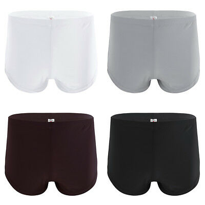 Swim Trunks Men's Ice Silk Boxer Briefs Shorts Underwear Pouch Bulge Underpants