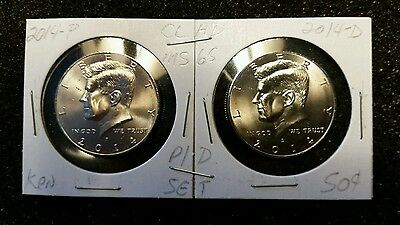 2014 P&d 50C Two-Coin Clad Kennedy Half Dollar Set Mint Uncirculated