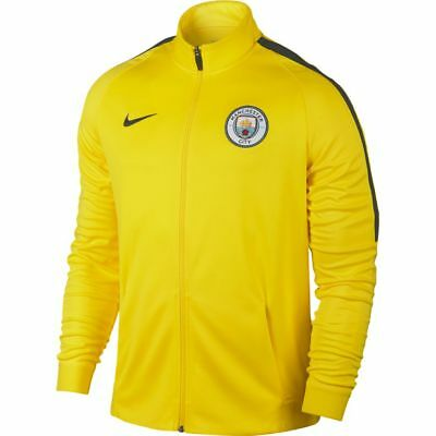 Nike Manchester City Dry Strike Track Top Full Zip Yellow Size L 829150 741