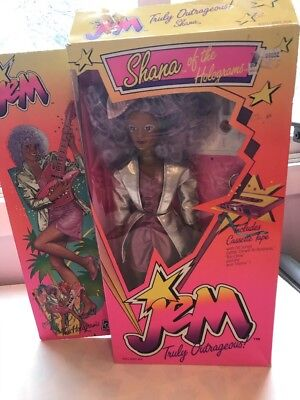 Hasbro Vintage JEM and the Holograms SHANA doll & accessories 1986 W Box