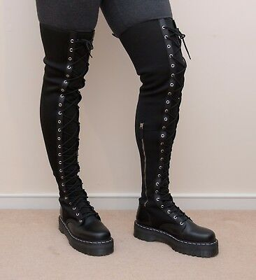 a6aff259482f Dr Martens Agyness Deyn Aggy Tall Over The Knee Thigh Boots Size 9 UK 11 USA