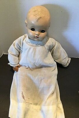 Vtg Madame Alexander Composition Head Cloth Body Rubber Legs Arms Baby Doll 20""