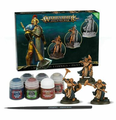 Stormcast Eternals + Paint Set-Games Workshop Band New