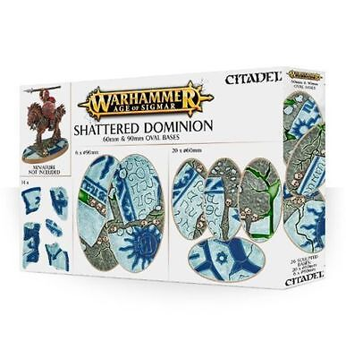 Warhammer 40k - Age of Sigmar - Shattered Dominion - 60mm & 90mm Oval Bases BNIB
